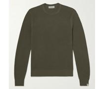 Cotton and Hemp-Blend Piqué Sweater
