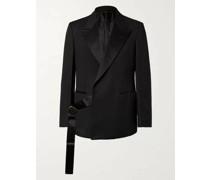 Satin-Trimmed Wool Tuxedo Jacket