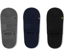 Three-Pack No-Show Stretch-Knit Socks