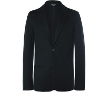Blue Slim-fit Unstructured Cashmere Blazer