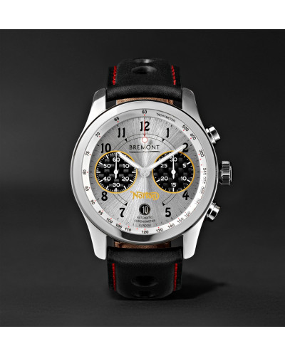 Norton V4 Automatic Chronometer 43mm Stainless Steel And Leather Watch - Silver
