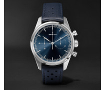 Chronomaster Heritage 146 Automatic Chronograph 38mm Stainless Steel And Leather Watch