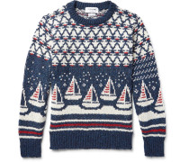 Jacquard-knit Wool And Mohair-blend Sweater