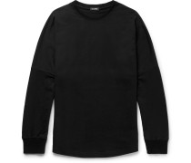 Printed Loopback Cotton-jersey T-shirt