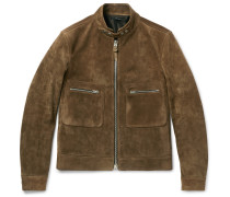 Slim-fit Suede Jacket