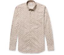 Kurt Slim-fit Floral-print Cotton-poplin Shirt