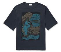 Heaton Printed Cotton-jersey T-shirt