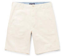 Cotton And Linen-blend Canvas Shorts