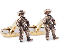 Cowboy Burnished Gold-tone Cufflinks