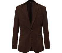 Brown Ludlow Slim-fit Cotton-corduroy Blazer