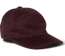 Brushed-cashmere Baseball Cap