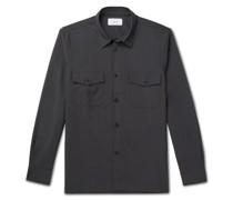 Virgin Wool and Mohair-Blend Flannel Overshirt