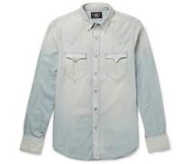 Buffalo Slim-fit Washed-denim Western Shirt
