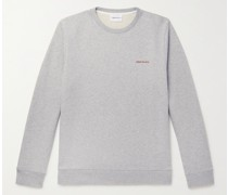 Vagn Logo-Print Loopback Mélange Cotton-Jersey Sweatshirt