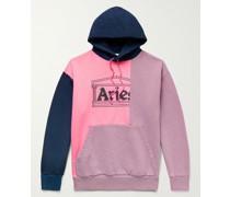Panelled Logo-Print Fleece-Back Cotton-Jersey Hoodie