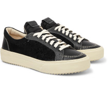 V1 Leather and Suede Sneakers