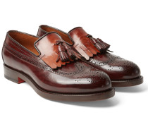 Two-tone Leather Kiltie Tasselled Loafers