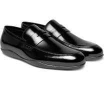 Downing 2 Polished-leather Penny Loafers