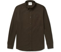 Dome Button-Down Collar Stretch-Cotton Twill Shirt