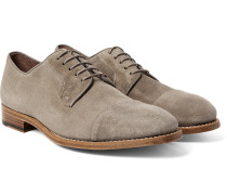 Ernest Cap-toe Suede Derby Shoes