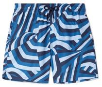 Maui 28 Slim-Fit Mid-Length Printed Swim Shorts