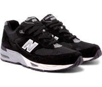 991 Suede And Mesh Sneakers
