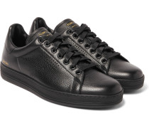Warwick Perforated Grained-leather Sneakers