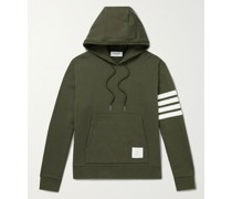 Striped Cotton-Jersey Hoodie