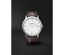 Classima 40mm Steel and Croc-Effect Leather Watch, Ref. No. M0A10507