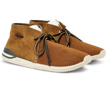 Huron Leather-trimmed Mesh And Suede Sneakers