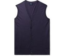 Slim-Fit Super 170s Virgin Wool Sweater Vest