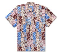 Eastern Paisley Camp-Collar Printed Woven Shirt