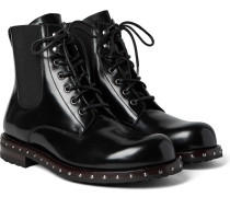 Studded Patent-leather Boots