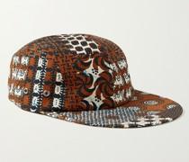 Printed Seersucker Baseball Cap