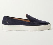 Larry Suede Slip-On Sneakers