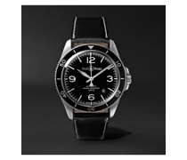 BR V2-92 Automatic 41mm Stainless Steel and Leather Watch, Ref. No. BRV292-‐BL-‐ST/SCA