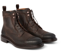 Felix Distressed Leather Brogue Boots