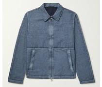 Resist-Dyed Cotton and Linen-Blend Blouson Jacket