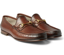 Horsebit Burnished-leather Loafers