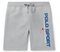 Logo-Print Fleece-Back Cotton-Blend Jersey Shorts
