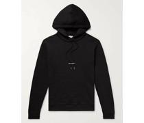 Slim-Fit Logo-Print Loopback Cotton-Jersey Hoodie