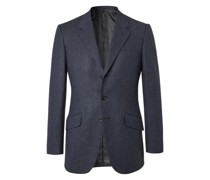 Conrad Slim-Fit Mélange Wool Suit Jacket
