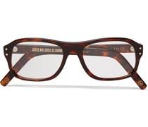 + Cutler and Gross Square-Frame Tortoiseshell Acetate Optical Glasses