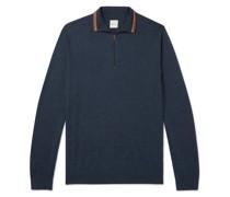 Slim-Fit Half-Zip Merino Wool Sweater