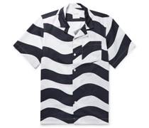 Brandon Camp-Collar Striped Organic Cotton-Poplin Shirt