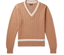 Tilden Slim-Fit Cable-Knit Merino Wool and Cashmere-Blend Sweater