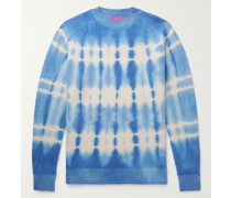 Wire Tie-Dyed Cashmere Mock-Neck Sweater