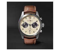 ALT1-C/CR Automatic Chronograph 43mm Stainless Steel and Leather Watch, Ref. No. ALT1-C/CR