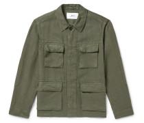 Garment-Dyed Linen Field Jacket