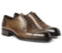 Edgar Burnished-leather Oxford Brogues